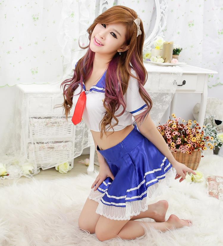 [EH306-15539] Student Wear Sexy Custume (3 pcs)