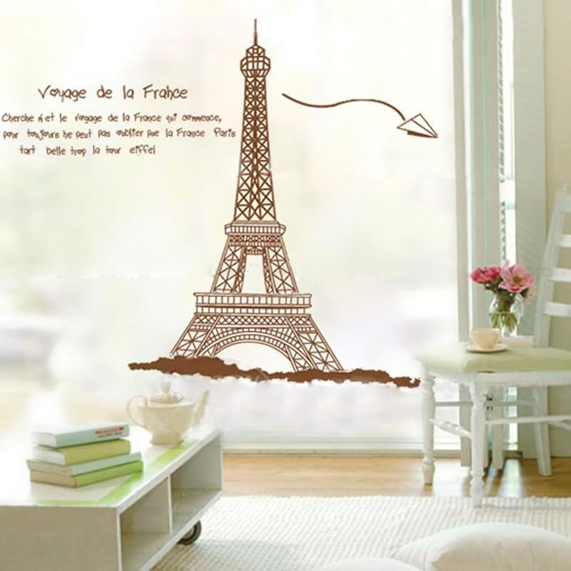 Eiffel tower removable wall sticker d end 4 5 2017 2 15 pm for Eiffel tower decorations for the home