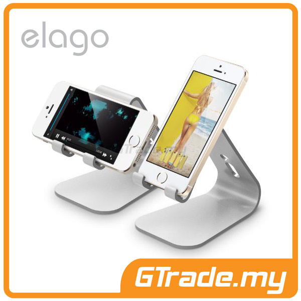 ELAGO M2 Stand | Apple iPhone 5S 5C 5 4S 4 - Silver