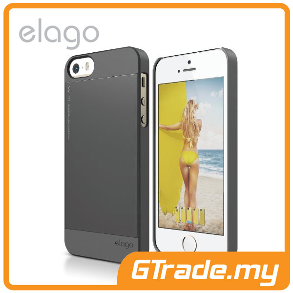 ELAGO S5 Outfit Aluminum & Polycarbon Case | Apple iPhone 5S 5 - Grey