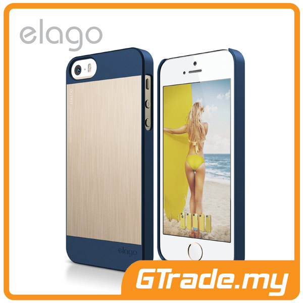 ELAGO S5 Outfit Aluminum & Polycarbon Case|Apple iPhone 5S 5 -IDG.Gold