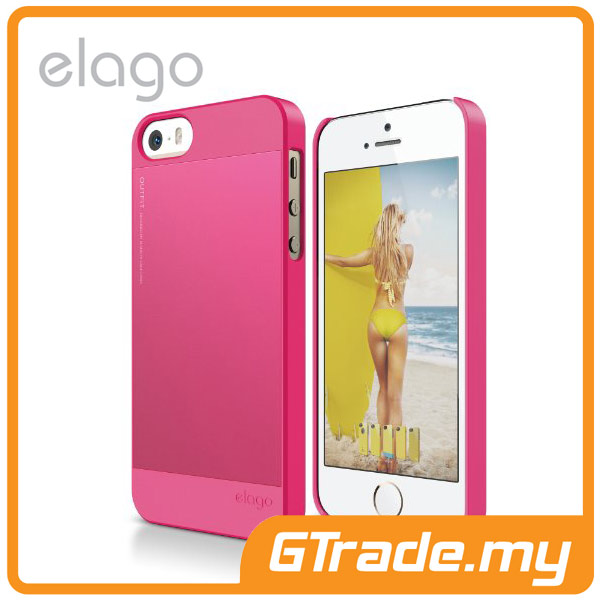 ELAGO S5 Outfit Aluminum & Polycarbon Case | Apple iPhone 5S 5 - Pink
