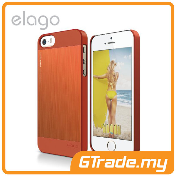 ELAGO S5 Outfit MATRIX Aluminum & Polycarbon Case | iPhone 5S 5 Orange