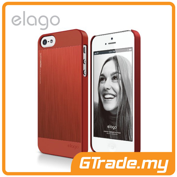 ELAGO S5 Outfit MATRIX Aluminum & Polycarbon Case | iPhone 5S 5 -Red