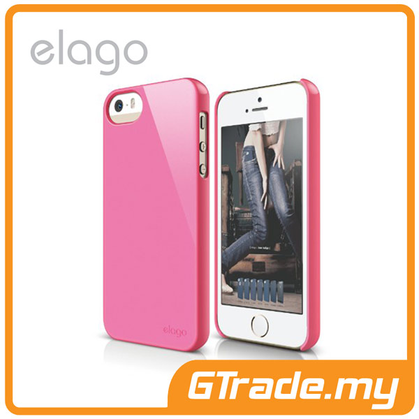 ELAGO S5 Slim Fit 2 Case | Apple iPhone 5S 5 - Hot Pink