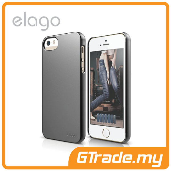 ELAGO S5 Slim Fit 2 Case | Apple iPhone 5S 5 - Semi Grey