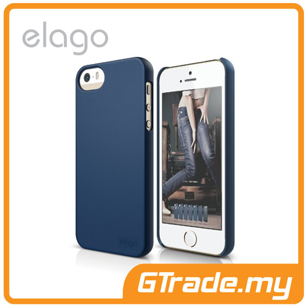 ELAGO S5 Slim Fit 2 Case | Apple iPhone 5S 5 - Soft Indigo