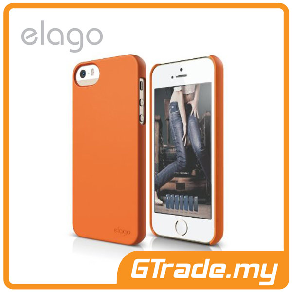 ELAGO S5 Slim Fit 2 Case | Apple iPhone 5S 5 - Soft Orange