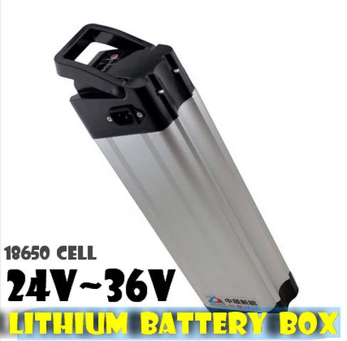Electric bicycle battery box  lithium 18650 waterproof  case 24v~36v