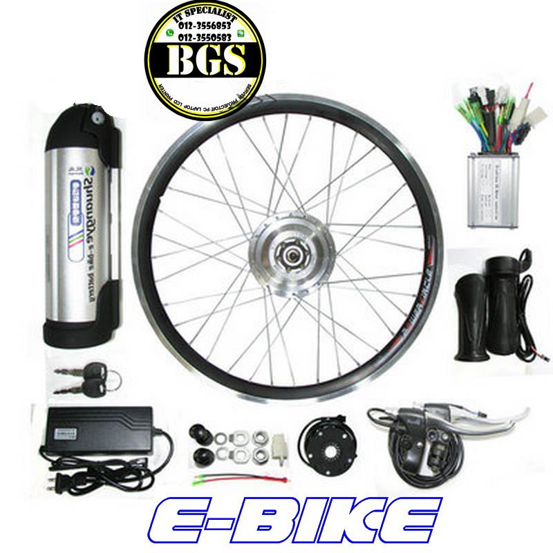 ELECTRIC E-BIKE  250w CONVERSION KIT ~ with li-ion battery 36v