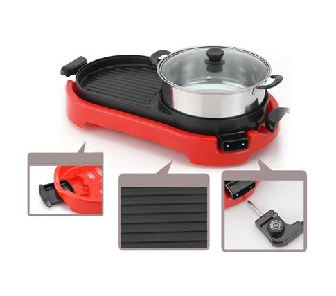 Electric Grill, BBQ and Steamboat 2 in 1 Multi Cooker Set