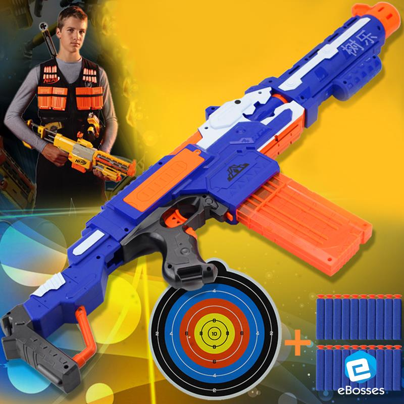 Electric Sub-Machine Soft Bullet Toy Gun with 20 Darts Refill.