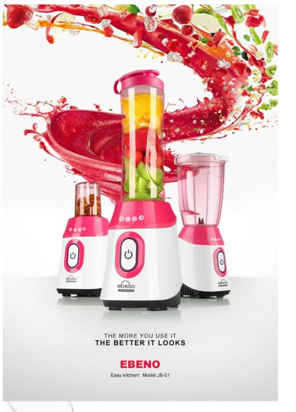 Electric Multifunctional Food Blender Ebeno 3 in 1