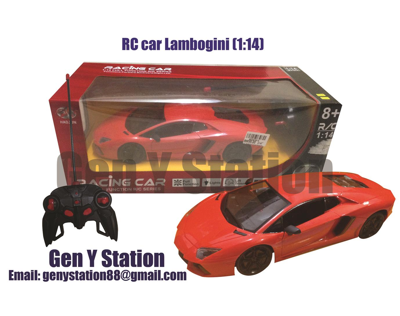 Electric Remote control cars Lambogini Orange-Red 1:14