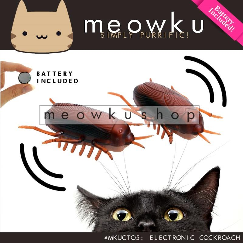 Electronic Cockroach (Cat Pet With Battery Toy Lipas Kucing Mainan)