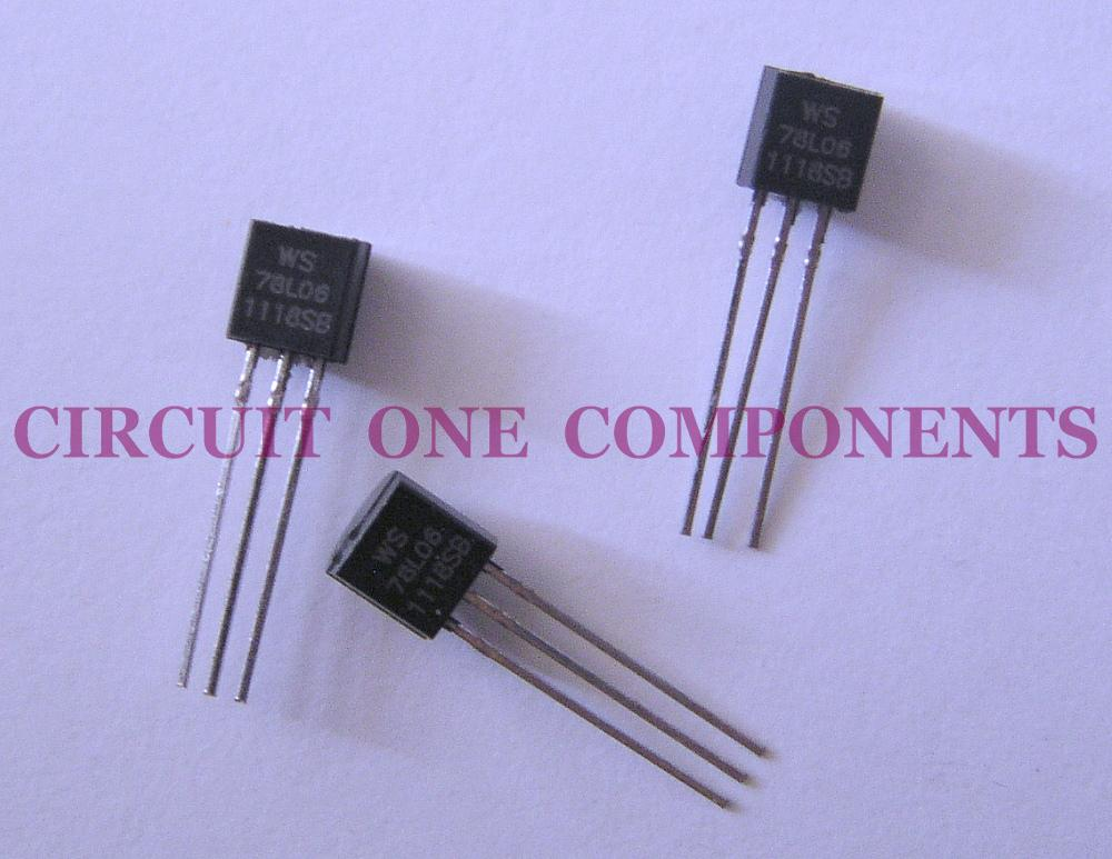 Electronic Component - 78L06 rerulator IC - each
