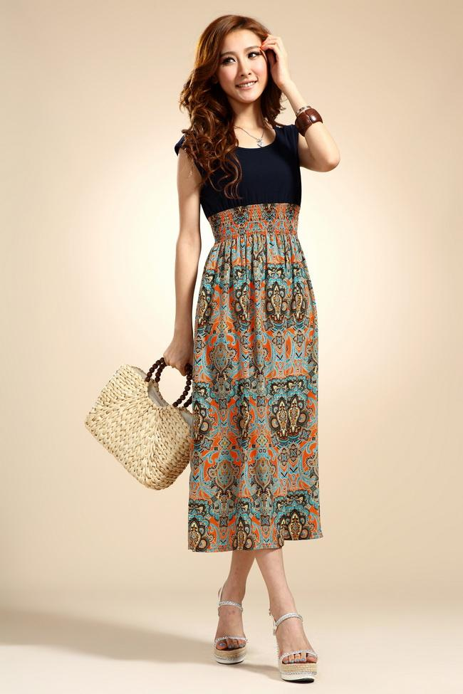 Elegant Bohemian Style Long Dress (Many Pattern Can Choose)
