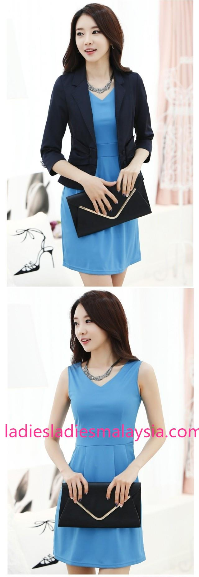 Elegant casual flare dress plain dress