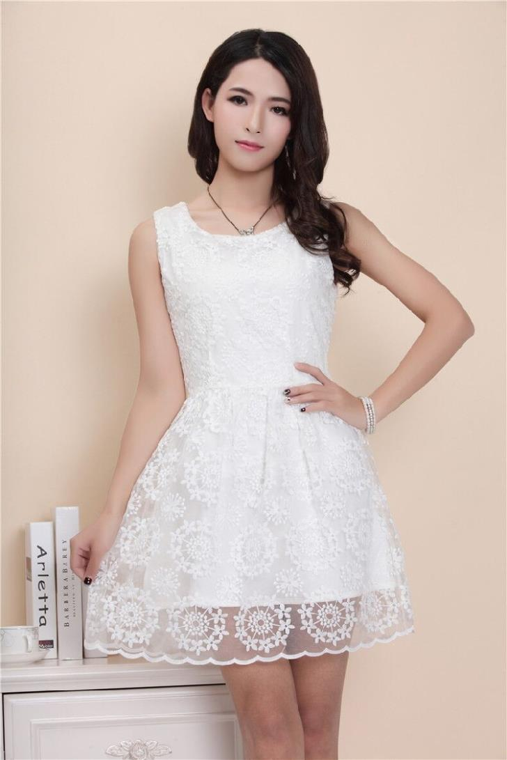 Elegant Lace Show-slim Dress