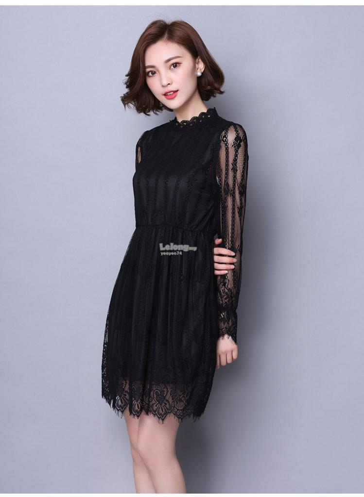 Elegant Long Sleeve Lace Dress
