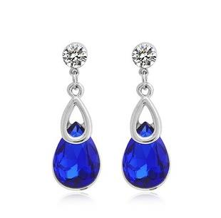 Elegant Shine Crystal Water-Drop Earings