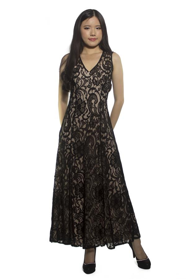 Elegant Women Full Lace Maxi Dress