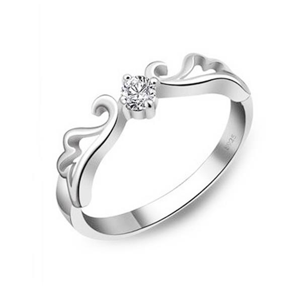 Elfi 925 Genuine Silver 0.25ct Engagement Ring P9. The Fairy of Love
