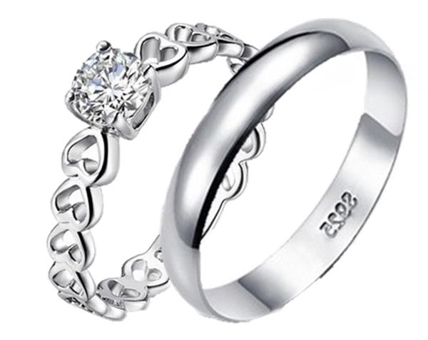 Elfi 925 Genuine Silver Couple Ring C41