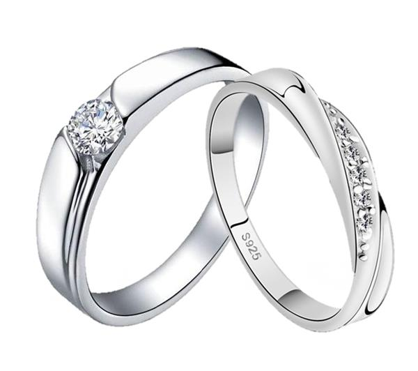 Elfi 925 Genuine Silver Couple Ring C48