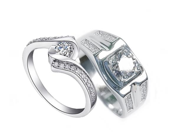Elfi 925 Genuine Silver Couple Ring C50