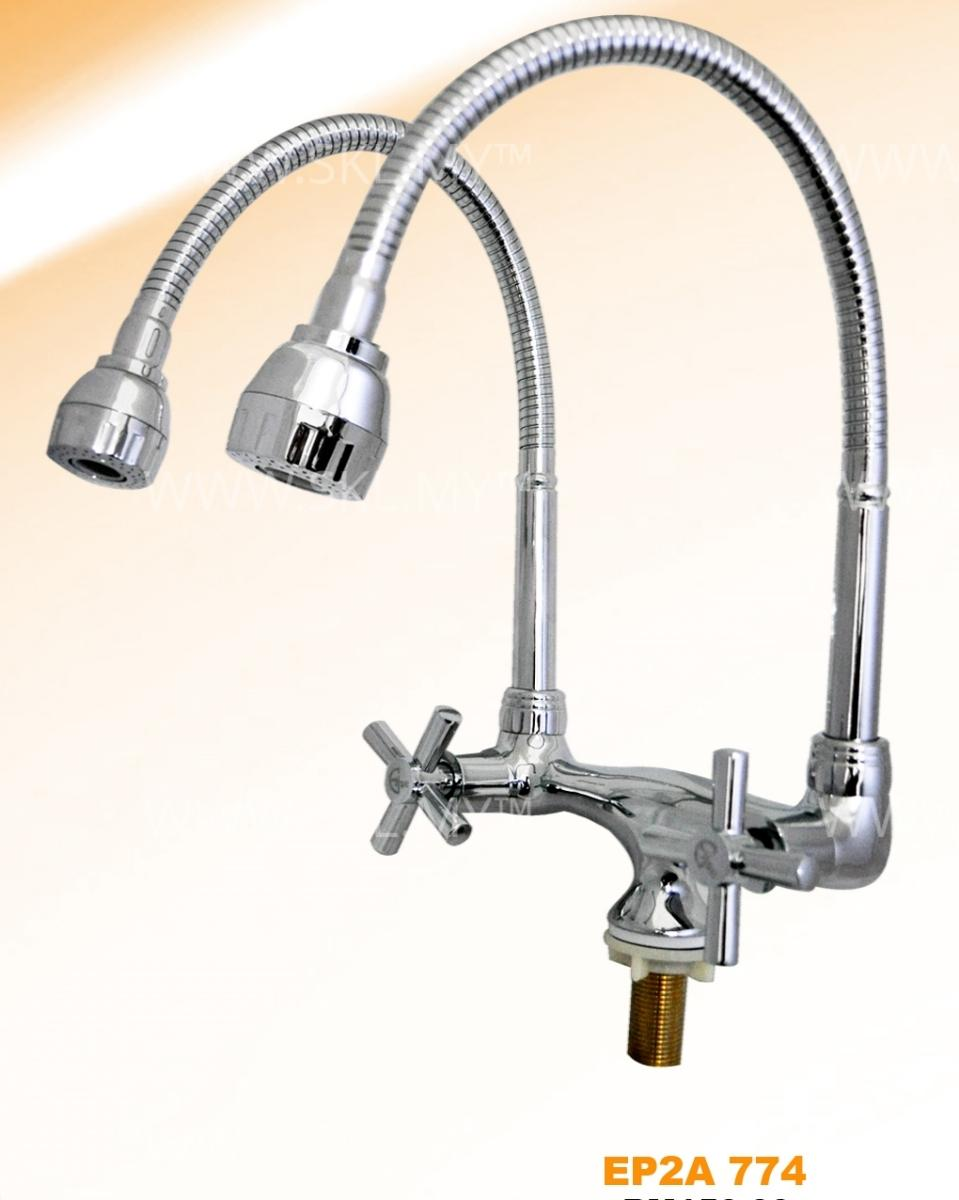 ELISE Double Flexible Kitchen Sink Water Tap Faucet (EP2A774)
