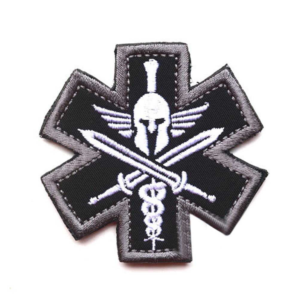 Embroidered Patch Tactics Armband Badge Sticker For Cloth Bag Backpack