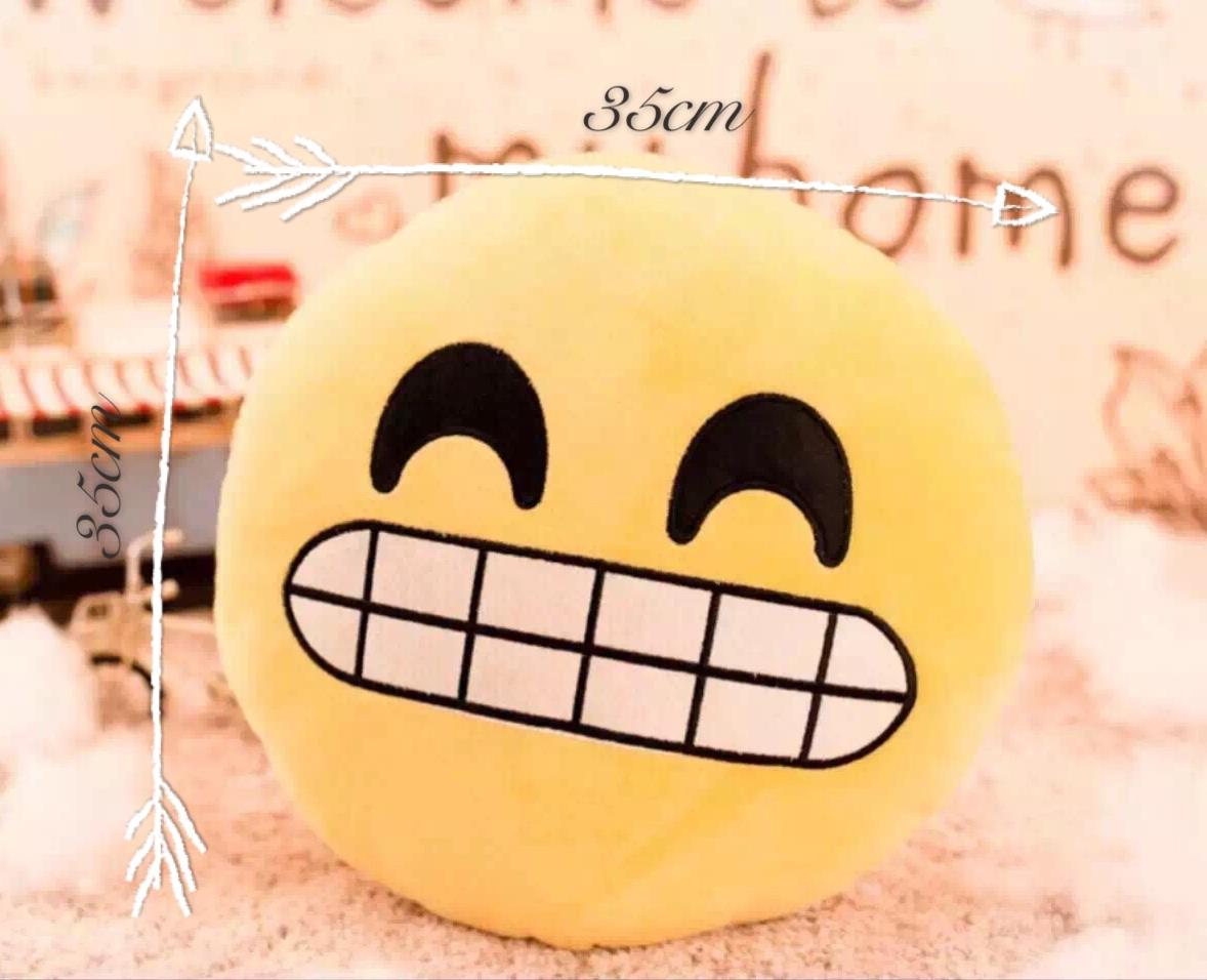 emoji large soft round smiley face pillow