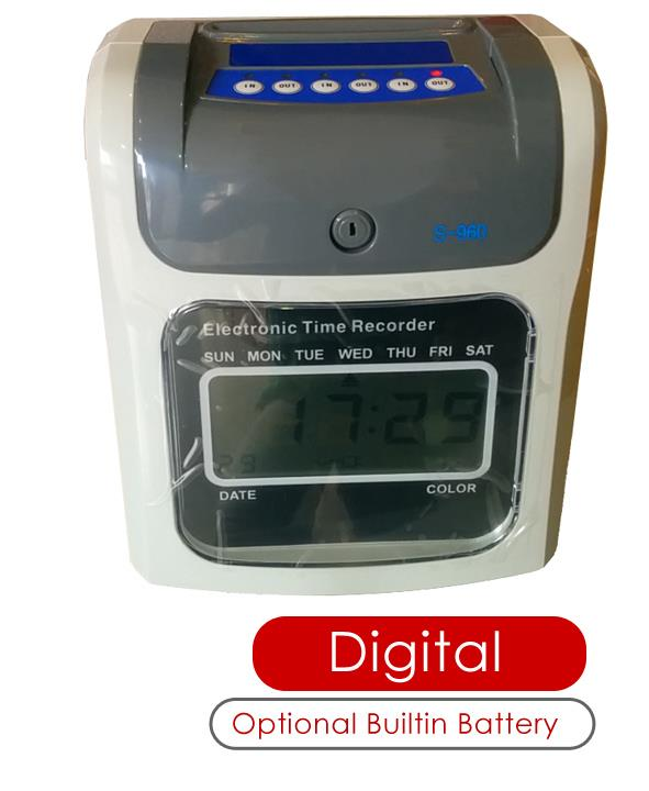 Employee Time Recorder Punch Card Machine Attendance Time (Digital)