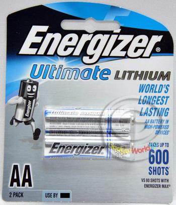 Energizer Ultimate Lithium AA Battery 2pcs (L91BP2G)