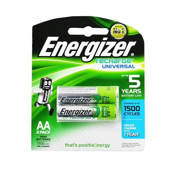 Energizer Universal AA Rechargeable Batteries 2count 1500mA, NH15UBP2