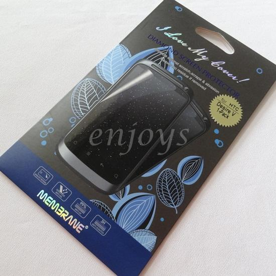 Enjoy MEMBRANE Diamond Clear LCD Screen Protector HTC Desire V / T328w