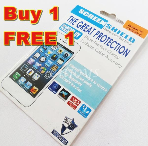 Enjoys: 2x DIAMOND Clear LCD Screen Protector for Huawei Honor 3C