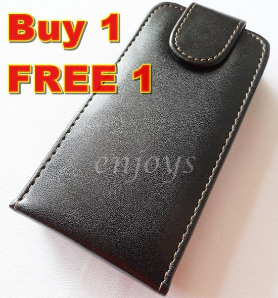 Enjoys: 2x Leather Pouch Cover Case for LG KP500 Cookie ~Flip Top