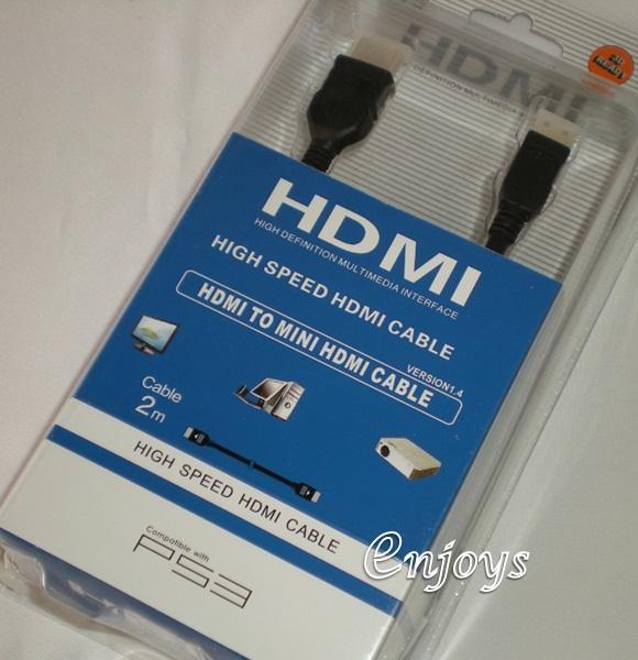 Enjoys: 3D Ready High Speed HDMI to Mini HDMI Cable 2m v1.4 ~1080p