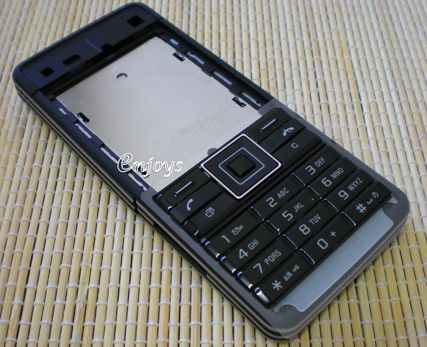 Enjoys: AP ORIGINAL HOUSING Sony Ericsson C902 ~ BLACK ~ ##Full Set##