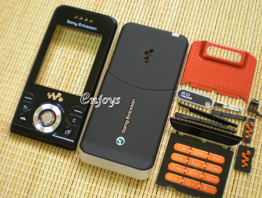 Enjoys: AP ORIGINAL HOUSING Sony Ericsson W580i W580 ~BLACK #Full Set