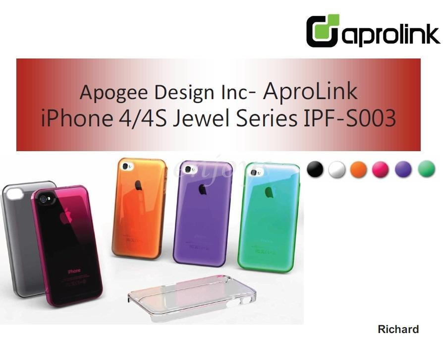 Enjoys: APROLINK IP-S003 Jewel Series Case Shell Cover iPhone 4 4S