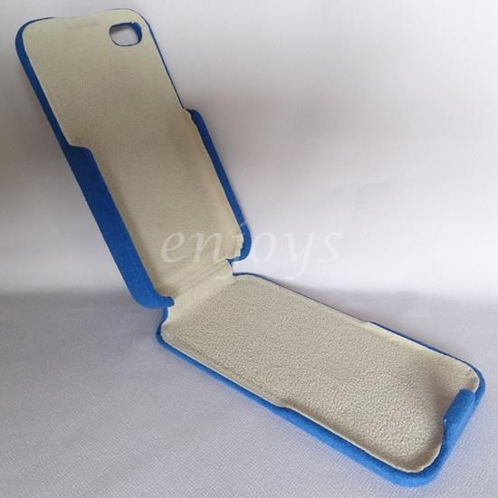 Enjoys: Flannel Protective Case Pouch Cover Apple iPhone 4 4S ~BLUE