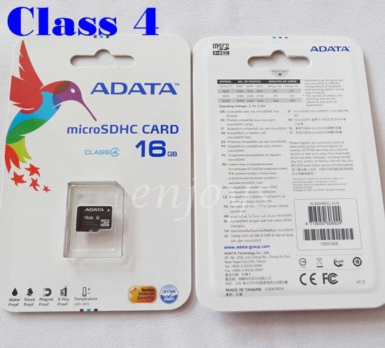 Enjoys Genuine ADATA 16GB Micro SD SDHC Memory Card ~Class 4 Lifetime
