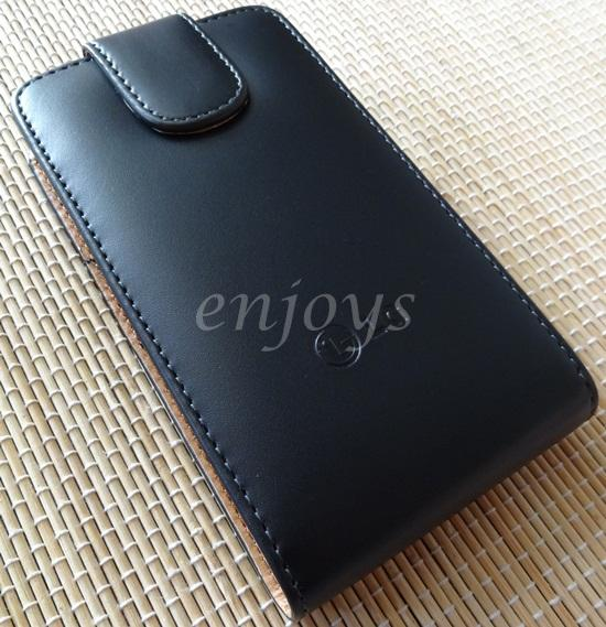 Enjoys: Genuine Leather Flip Pouch Cover Case LG Optimus 3D P920