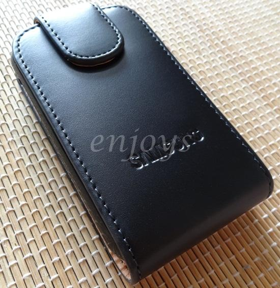 Enjoys: Genuine Leather Flip Pouch Cover Case Samsung Galaxy Y S5360