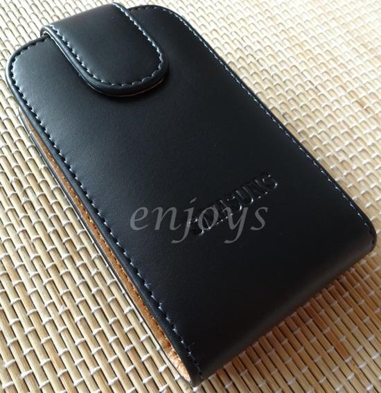 Enjoys: Genuine Leather Flip Pouch Cover Samsung Galaxy mini 2 S6500