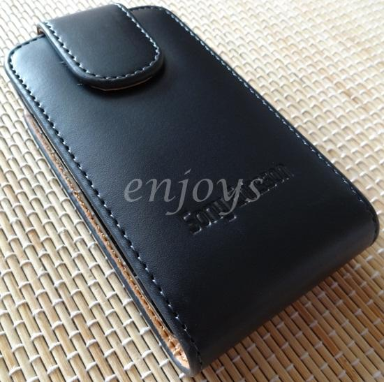 Enjoys Genuine Leather Pouch Cover Sony Ericsson Xperia Mini Pro SK17i