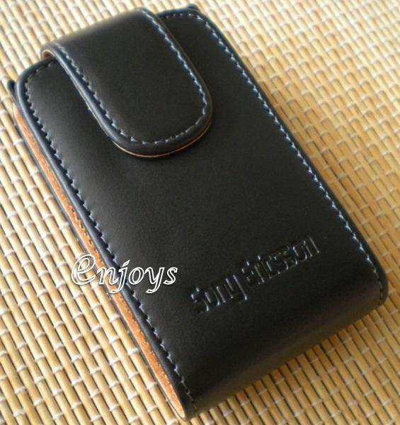 Enjoys: Genuine Leather Pouch Cover Sony Ericsson XPERIA X10 mini Pro